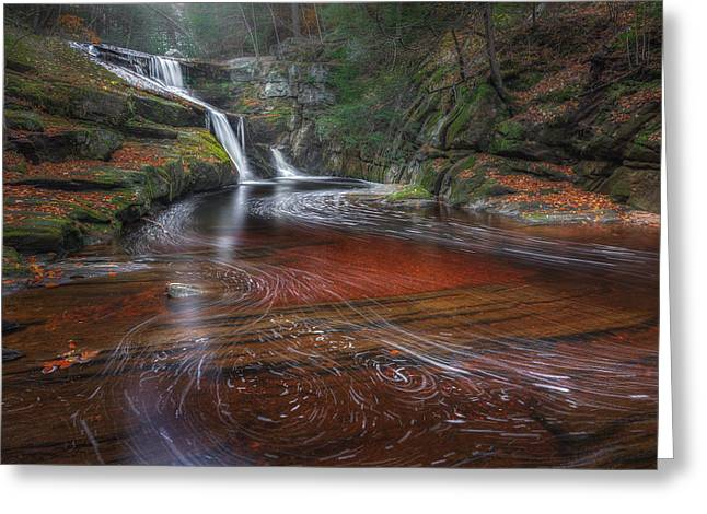 Southern New England Greeting Cards - Ethereal Autumn Connecticut Greeting Card by Bill Wakeley