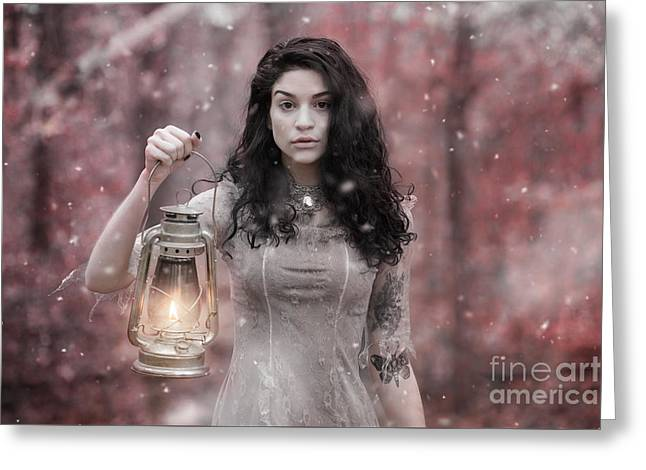 Ethereal Snow Beauty Greeting Card by Jt PhotoDesign
