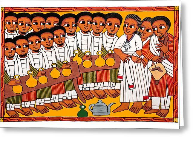 Africa Festival Greeting Cards - Ethiopian Festival Greeting Card by Munir Alawi