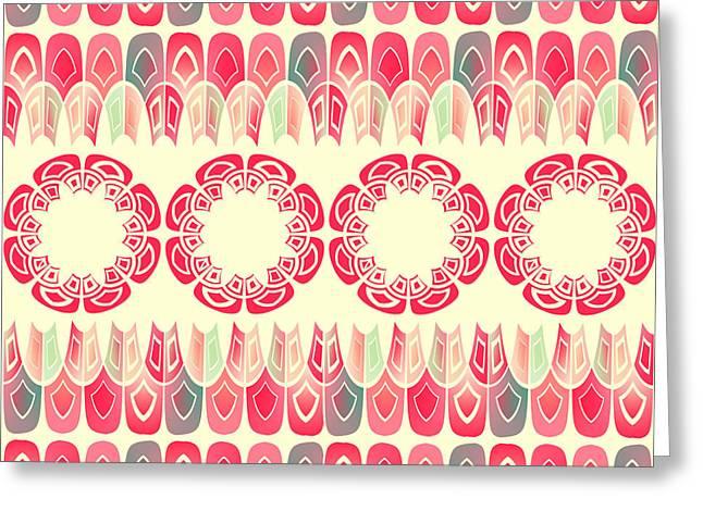 Ethnic Geometric Pattern Greeting Card by Gaspar Avila