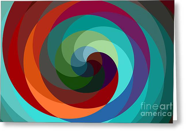 Twirling Greeting Cards - Etourdissement - 01a Greeting Card by Variance Collections