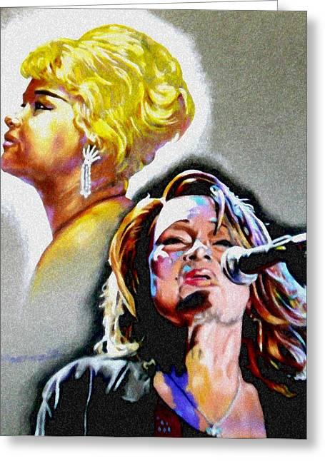 Etta James Greeting Card by Christopher Martinez