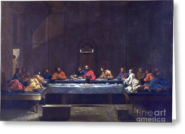 Last Supper Greeting Cards - Eucharist - The Last Supper Greeting Card by Celestial Images