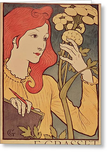 Eugene Grasset Greeting Card by Salon des Cent