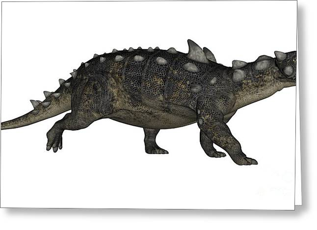 Ankylosaurus Digital Greeting Cards - Euoplocephalus Dinosaur Greeting Card by Elena Duvernay