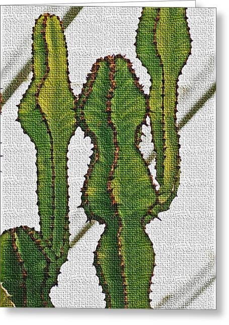 Euphorbia Not A Cactus Greeting Card by Tom Janca