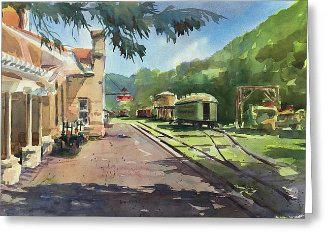 Eureka Springs Station Greeting Card by Spencer Meagher