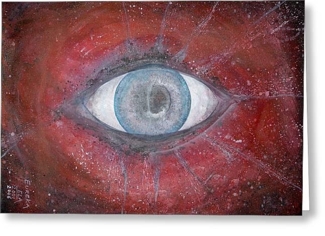 Eureka's Eye Greeting Card by Art by Ela