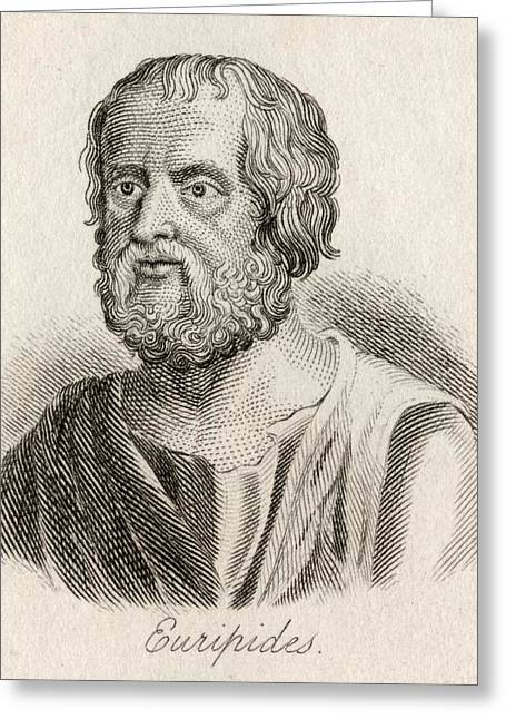 Dramatist Greeting Cards - Euripides, 480 Ac-406 Ac. Ancient Greek Greeting Card by Ken Welsh