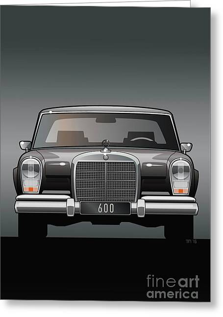 Euro Classic Series Mercedes-benz W100 600 Greeting Card by Monkey Crisis On Mars