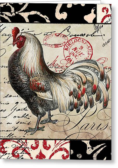 Critters Greeting Cards - Europa Rooster I Greeting Card by Mindy Sommers