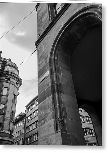 Swiss Photographs Greeting Cards - European Structure Greeting Card by James Bush
