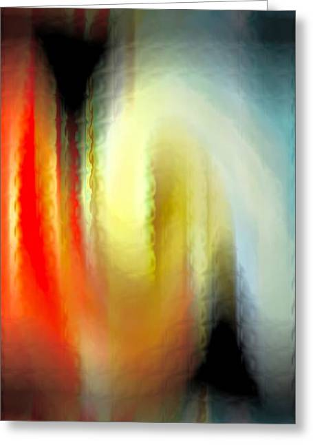 Evanescent Emotions Greeting Card by Gwyn Newcombe