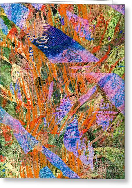 Abstract Digital Mixed Media Greeting Cards - Evaporation Greeting Card by Laura L Leatherwood