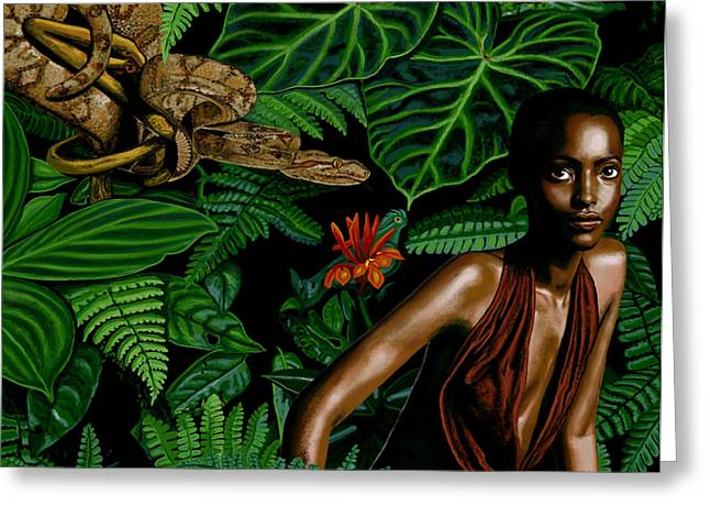 Goddess Print Greeting Cards - Eve Greeting Card by Pamela Wells