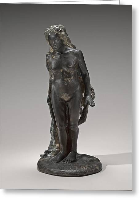 Nude Sculptures Greeting Cards - Eve Greeting Card by Paul Gauguin