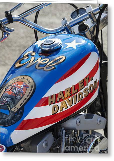 Usa Photographs Greeting Cards - Evel Harley  Greeting Card by Tim Gainey