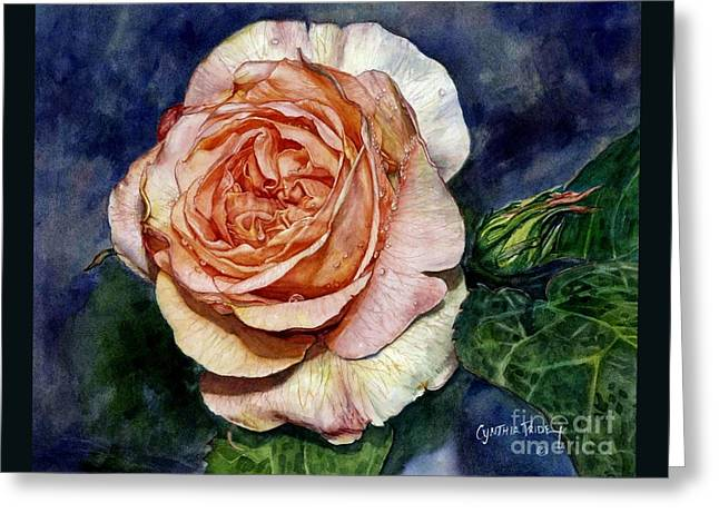 Salmon Paintings Greeting Cards - Evelyn Greeting Card by Cynthia Pride