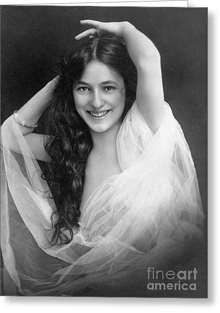Showgirl Greeting Cards - Evelyn Nesbit (1885-1967) Greeting Card by Granger