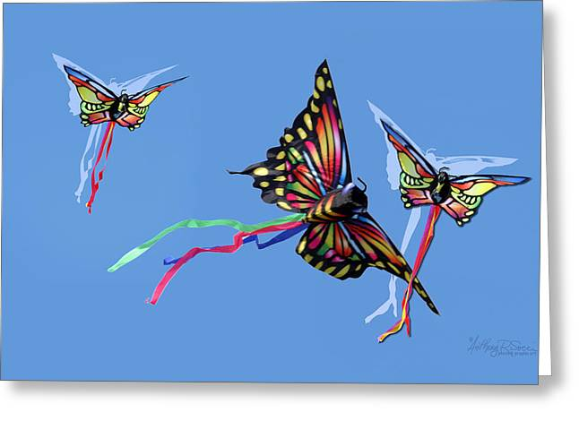 Even Butterflies Have Guardian Angels Greeting Card by Anthony R Socci