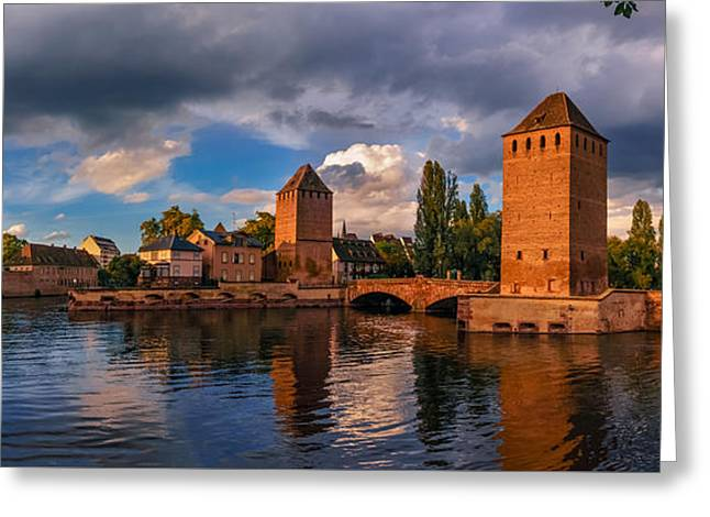 River View Greeting Cards - Evening after the rain on the Ponts Couverts Greeting Card by Dmytro Korol