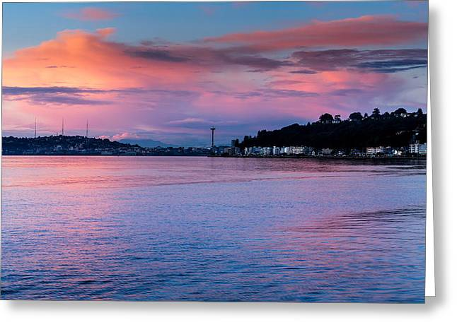Beach Photography Greeting Cards - Evening at Duwamish Head Greeting Card by TL  Mair