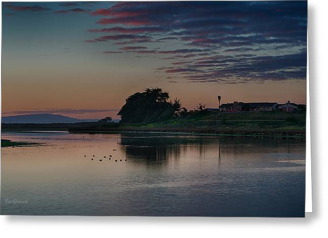 Monterey Bay Greeting Cards - Evening At Moss Landing Greeting Card by Bill Roberts