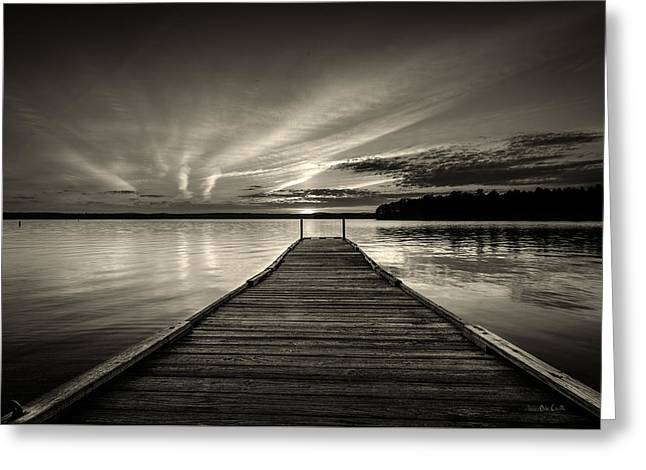 Maine Landscape Greeting Cards - Evening At The Lake Greeting Card by Bob Orsillo
