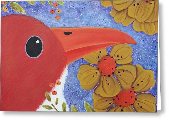 Evening Bird Greeting Card by Clover Moon Designs Peggy Sowers-Heckman