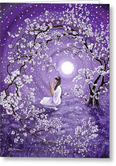 Evening Blessing Greeting Card by Laura Iverson