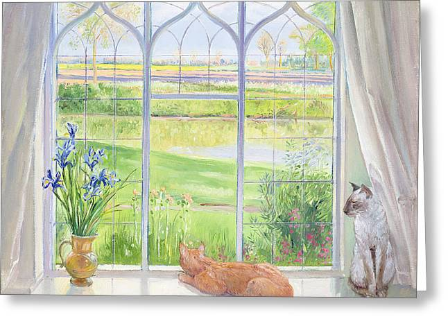 Water Jug Greeting Cards - Evening Breeze Greeting Card by Timothy Easton