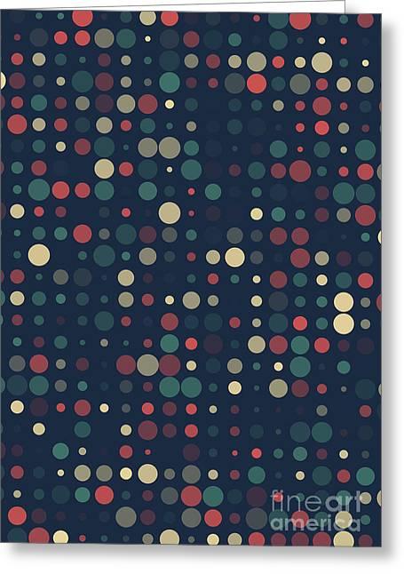 Geometric Artwork Greeting Cards - Evening Circle Variation Pattern Greeting Card by Frank Ramspott