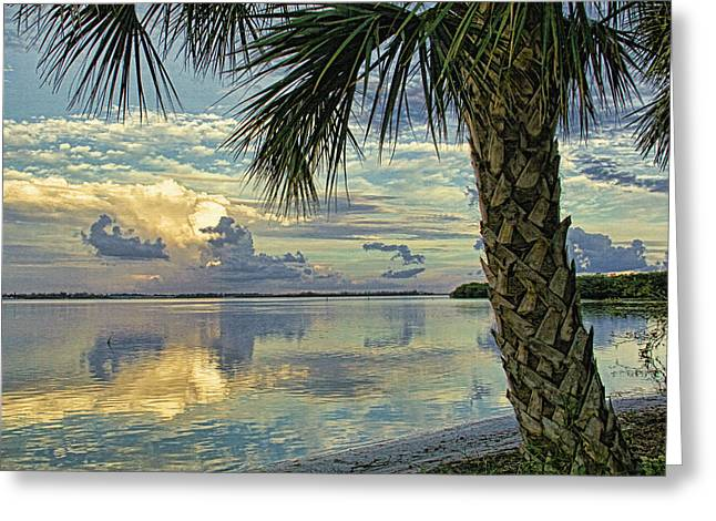 Sand Art Greeting Cards - Evening Clouds by HH Photography Greeting Card by HH Photography of Florida