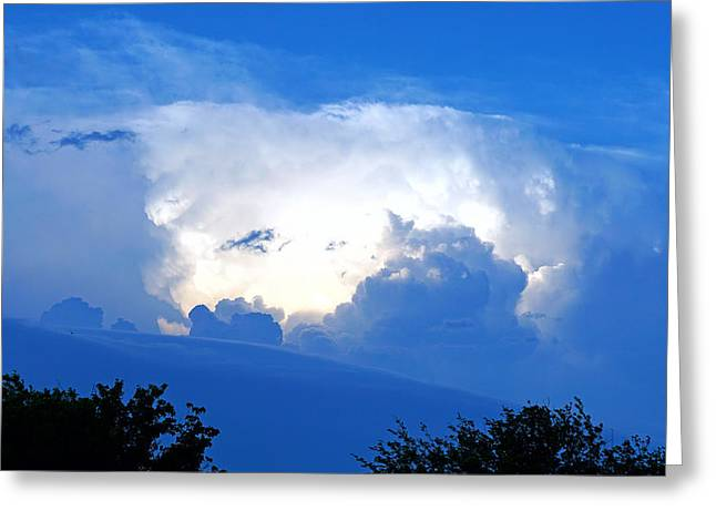 Thunderstorm Greeting Cards - Evening Clouds In May Greeting Card by David G Paul