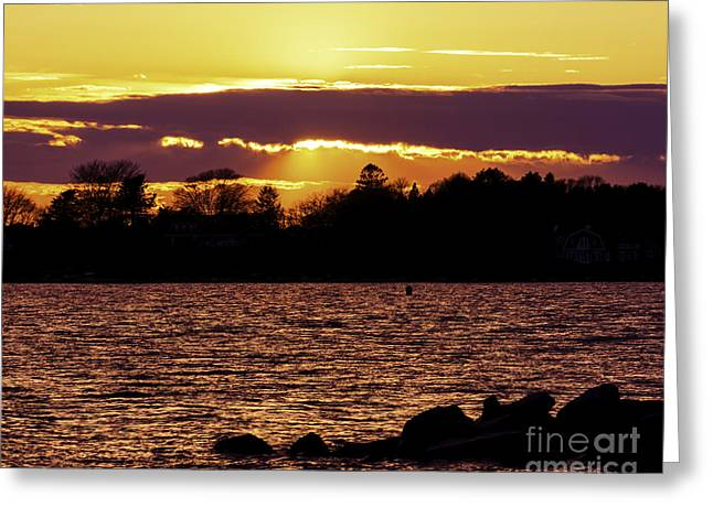 Renewing Greeting Cards - Evening Colors Greeting Card by Joe Geraci