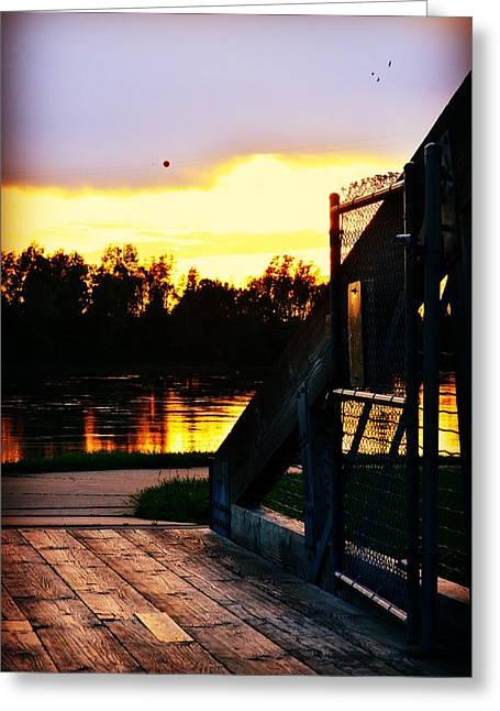 Saint Joseph Greeting Cards - Evening Crossing Greeting Card by Kim Blaylock