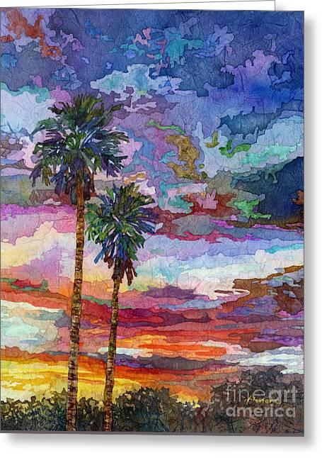 Evening Glow Greeting Card by Hailey E Herrera