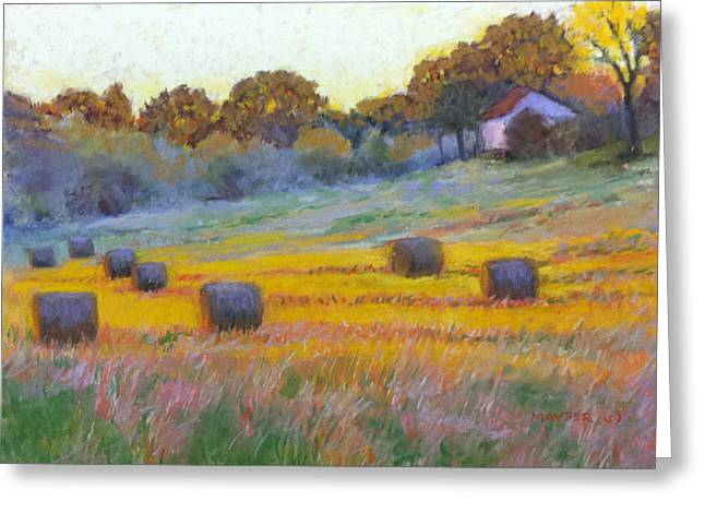 Bale Pastels Greeting Cards - Evening Glow Greeting Card by Julie Mayser