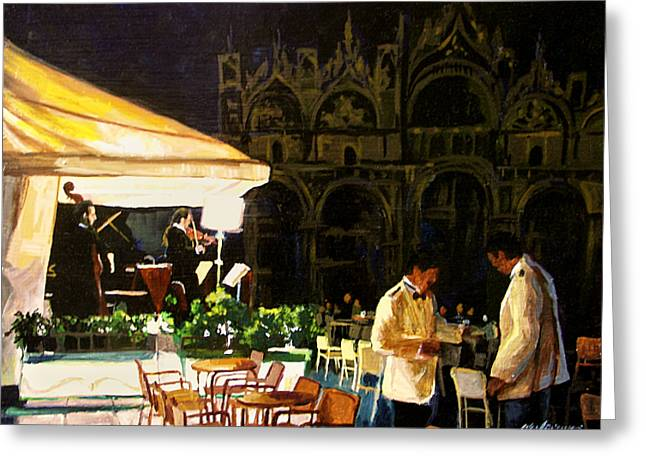 Evening in Venice Greeting Card by Michael Jacques