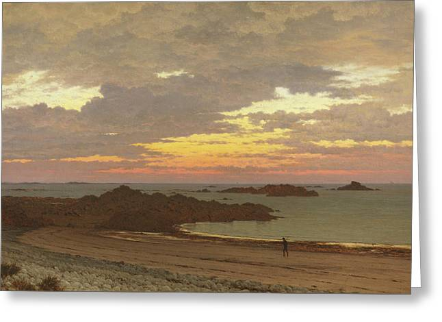 Evening On The Coast Greeting Card by Frederick William Meyer