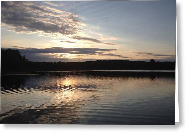 Evening On The Lake Greeting Card by Lori Thompson
