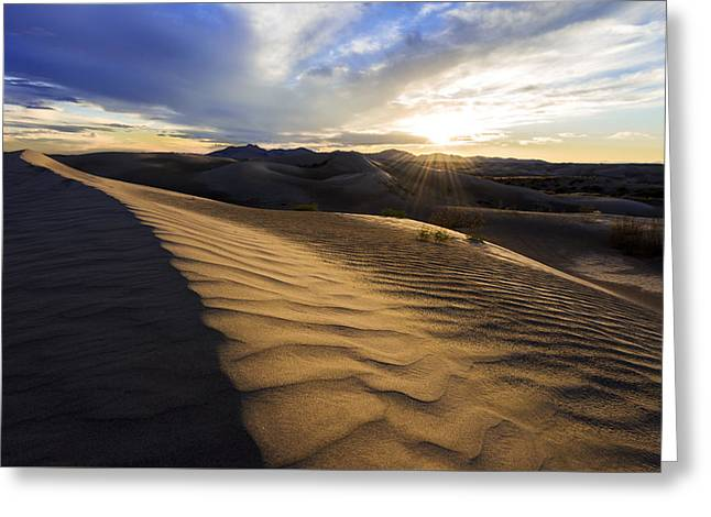 Sand Art Greeting Cards - Evening Ripples Greeting Card by Chad Dutson