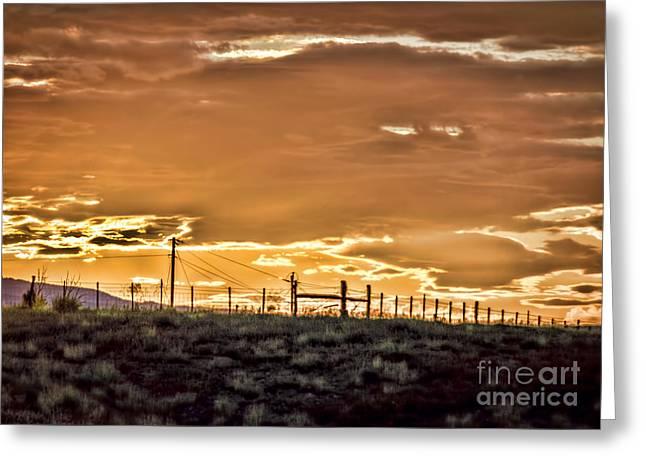 Amazing Sunset Greeting Cards - Evening Sage Greeting Card by Janice Rae Pariza