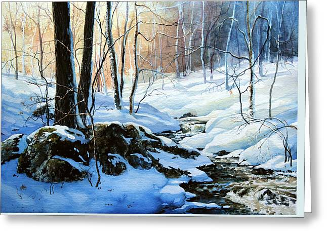 Landscape Posters Greeting Cards - Evening Shadows Greeting Card by Hanne Lore Koehler