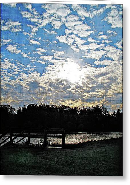 Evening Shadows Greeting Card by Joan  Minchak