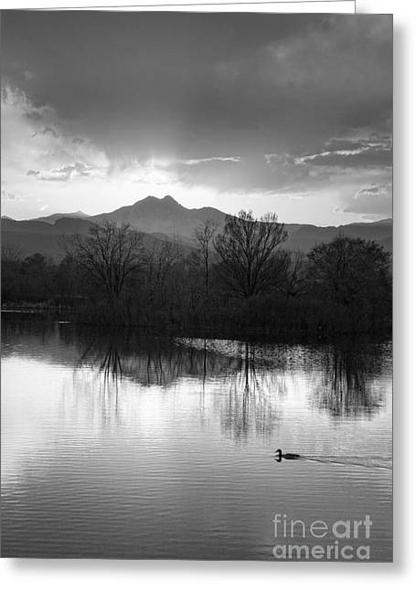 Colorado Mountain Prints Greeting Cards - Evening Sky BW Greeting Card by James BO  Insogna