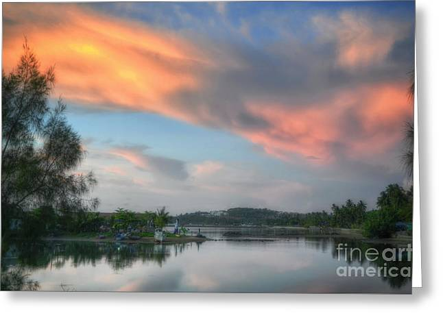 Michelle Greeting Cards - Evening Sky Greeting Card by Michelle Meenawong