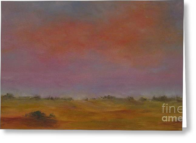 Evening Lights Pastels Greeting Cards - Evening Sky Greeting Card by Sabina Haas