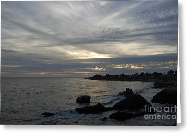 Santa Cruz Greeting Cards - Evening storm  Greeting Card by Garnett  Jaeger