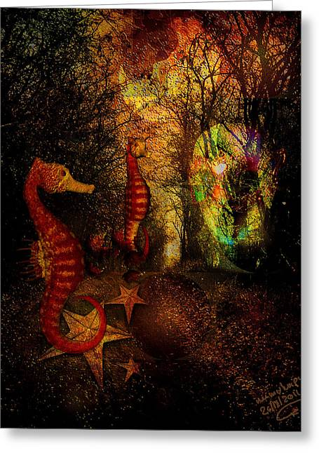 Subconscious Digital Art Greeting Cards - Evening Stroll Greeting Card by Mimulux patricia no